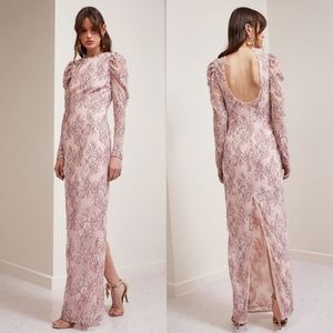 KEEPSAKE The Label Long Sleeve Hold On Lace Gown